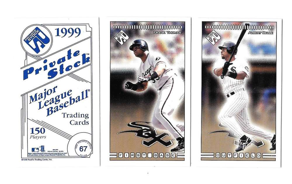 1999 Pacific Private Stock PS-206 - CHICAGO WHITE SOX Team Set