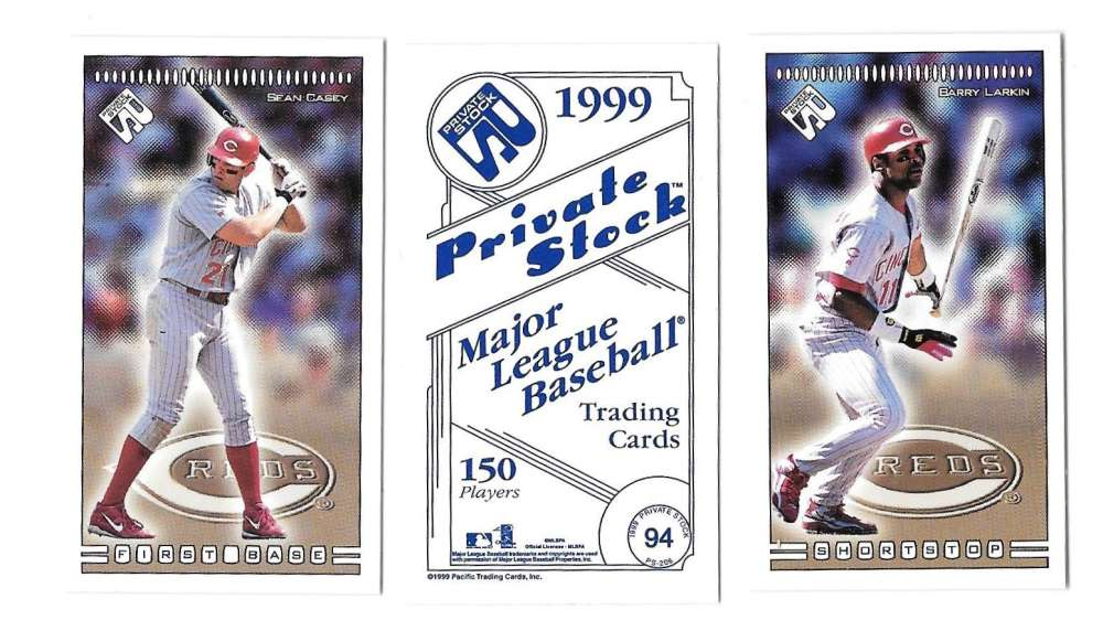 1999 Pacific Private Stock PS-206 - CINCINNATI REDS Team Set
