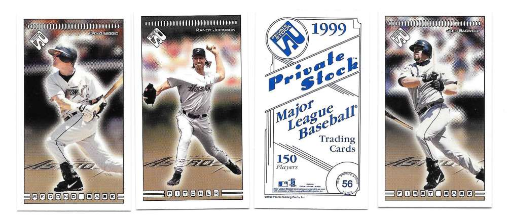 1999 Pacific Private Stock PS-206 - HOUSTON ASTROS Team set