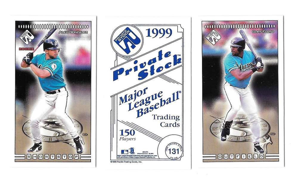 1999 Pacific Private Stock PS-206 - Florida MARLINS Team Set