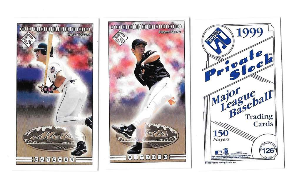 1999 Pacific Private Stock PS-206 - NEW YORK METS Team Set