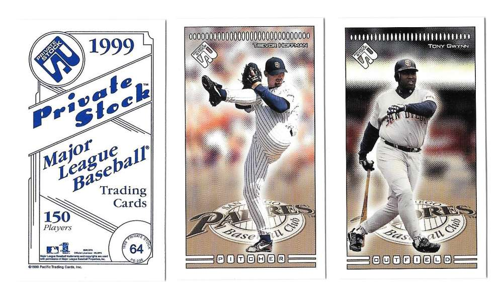 1999 Pacific Private Stock PS-206 - SAN DIEGO PADRES Team Set