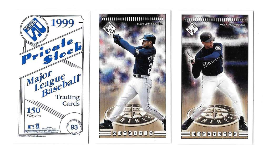 1999 Pacific Private Stock PS-206 - SEATTLE MARINERS Team Set