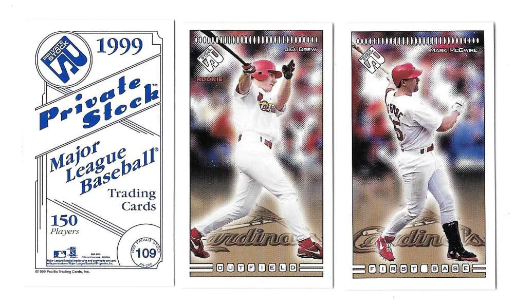 1999 Pacific Private Stock PS-206 - ST LOUIS CARDINALS Team Set