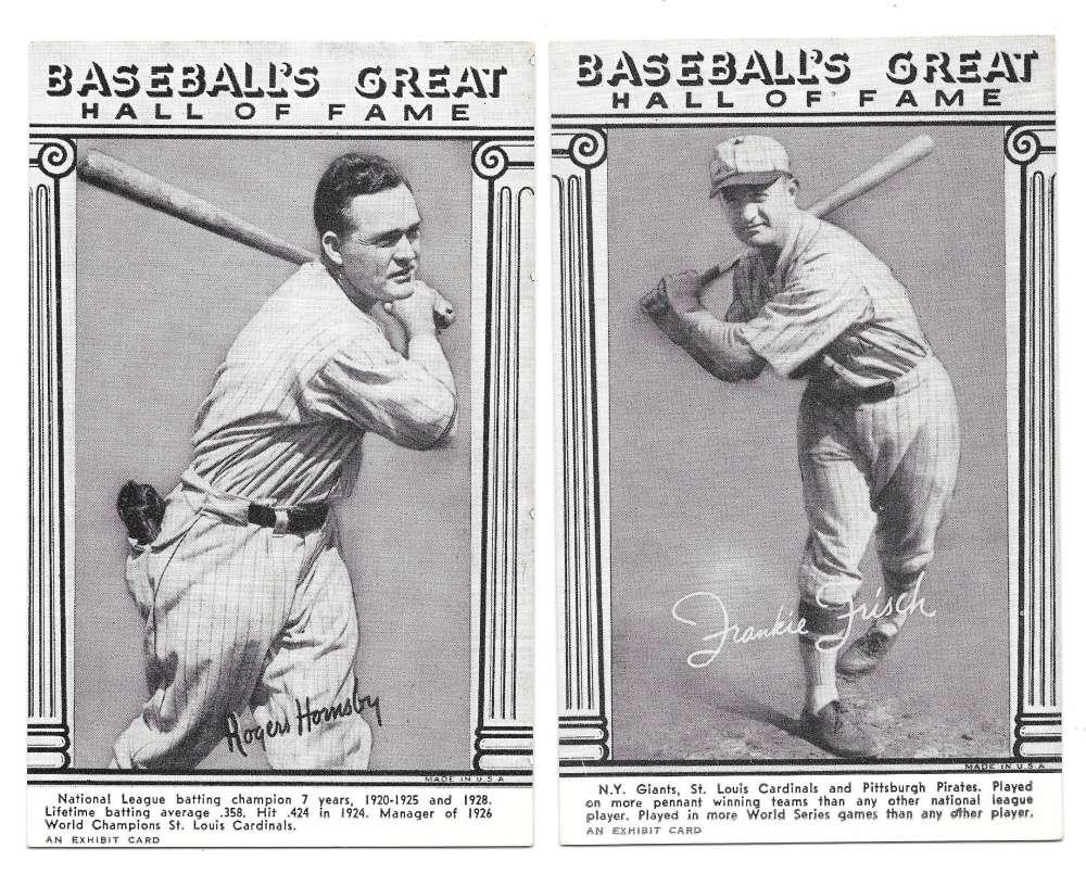 1974 Baseballs Great HOF Exhibit Cards - ST LOUIS CARDINALS Team Set