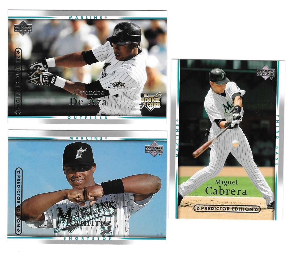 2007 UD ROOKIE OF YEAR Predictor SILVER - FLORIDA MARLINS Team Set