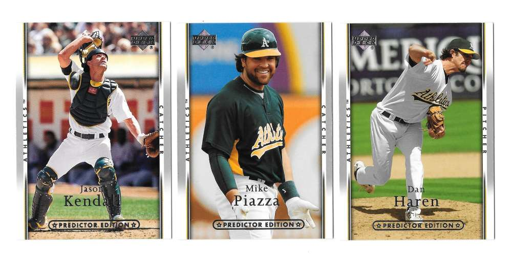 2007 UD ROOKIE OF YEAR Predictor SILVER - OAKLAND ATHLETICS / A'S Team Set