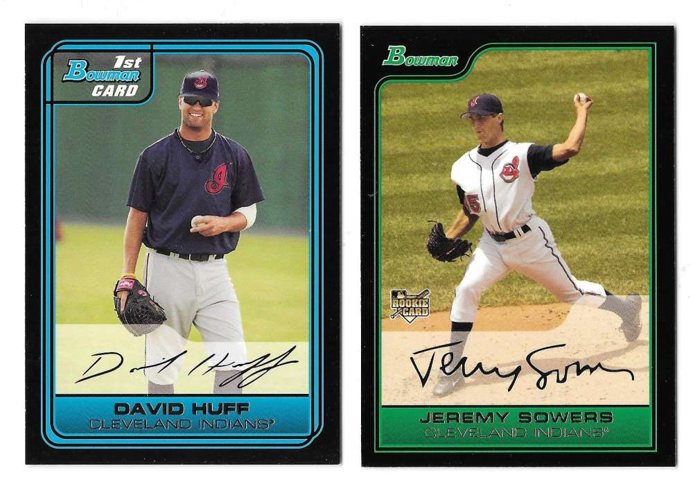 2006 Bowman Draft Picks & Prospects - CLEVELAND INDIANS Team Set
