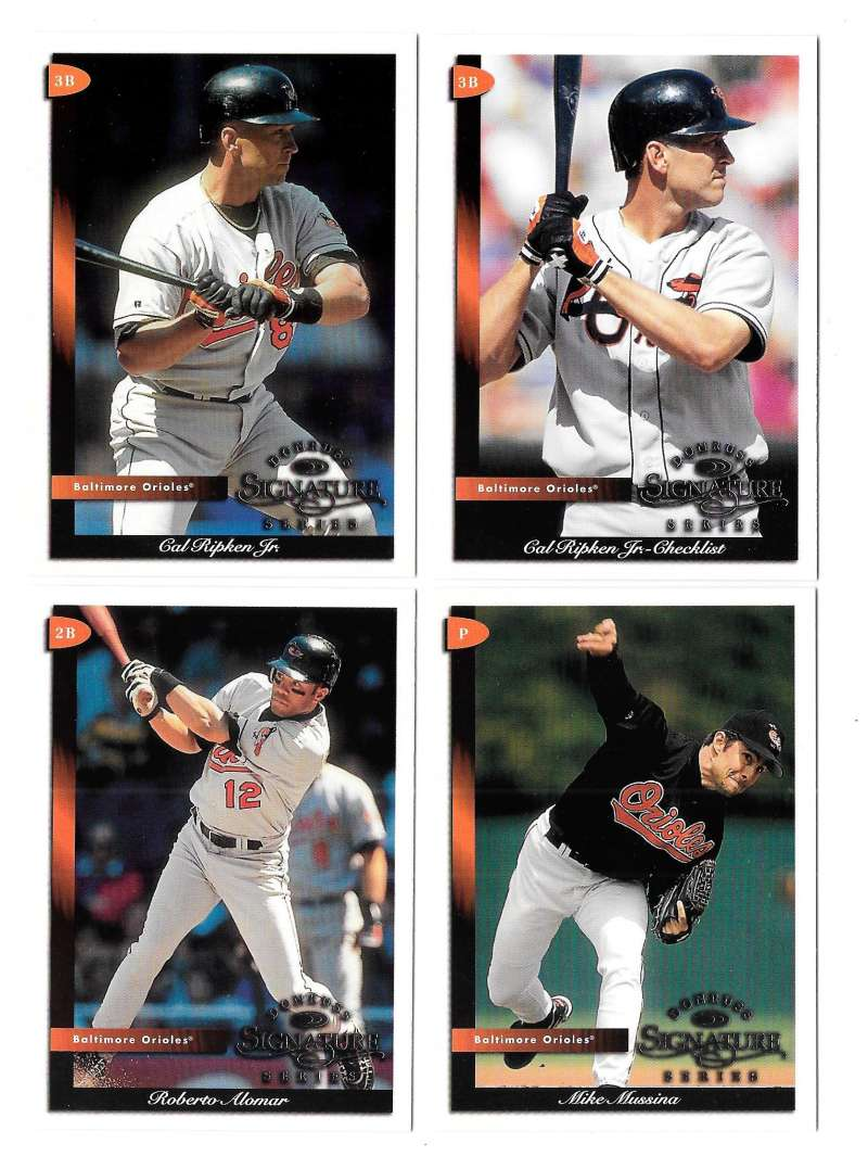 1998 Donruss Signature - BALTIMORE ORIOLES Team Set