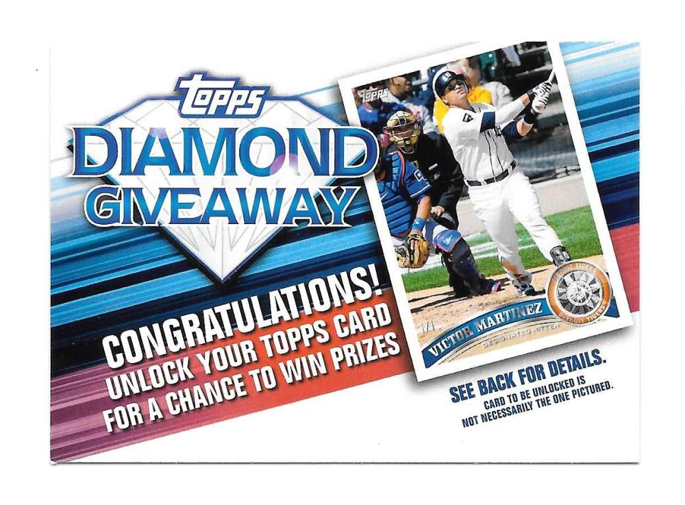 2011 Topps Diamond Giveaway - DETROIT TIGERS