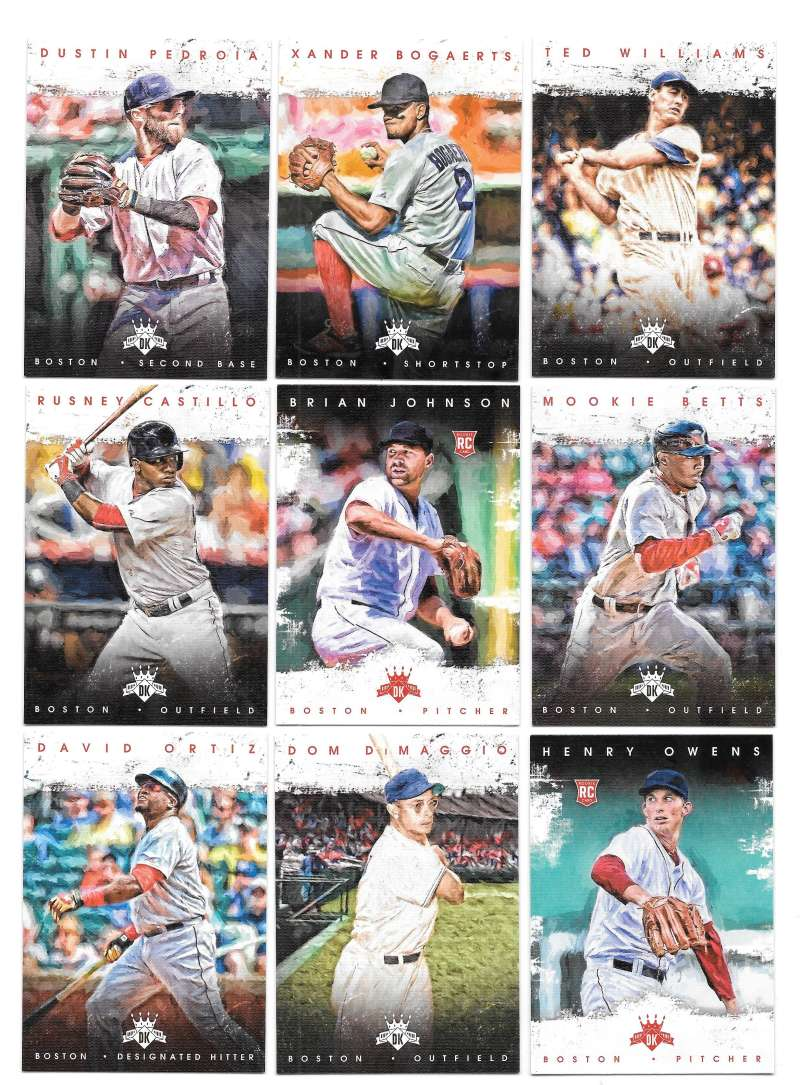 2016 Diamond Kings (Panini) - BOSTON RED SOX Team Set