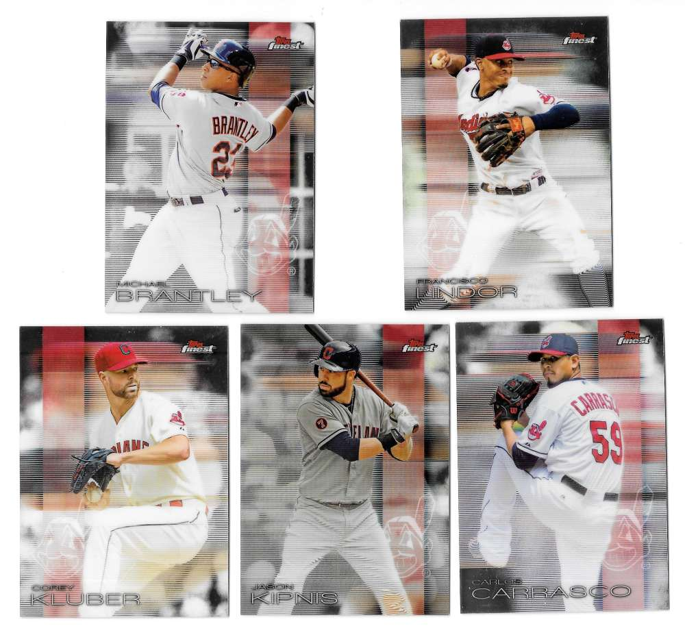 2016 Finest - CLEVELAND INDIANS Team Set