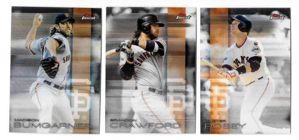2016 Finest - SAN FRANCISCO GIANTS Team Set