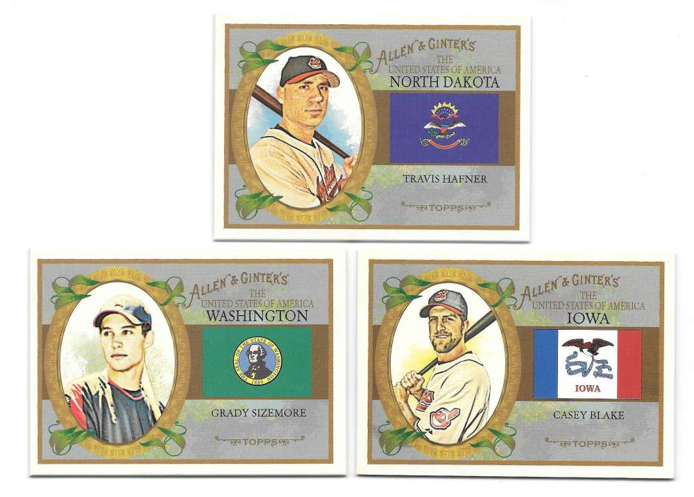 2008 Topps Allen and Ginter States - CLEVELAND INDIANS Team Set