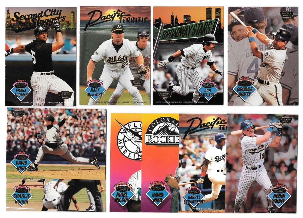 1993 Stadium Club Members Only Parallel - 10 card insert set