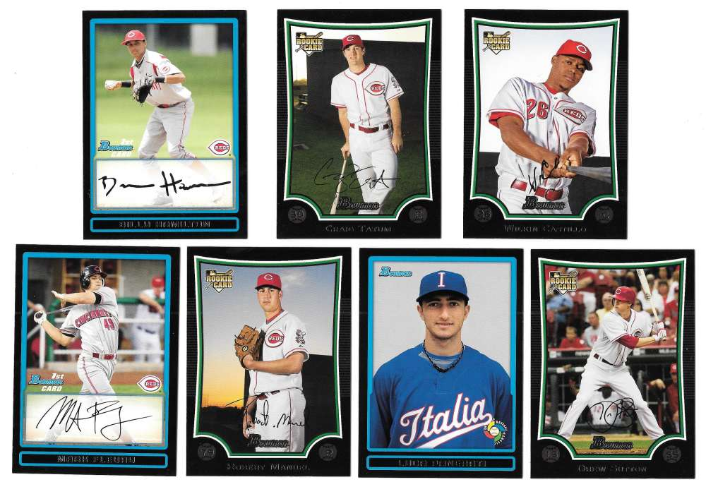 2009 Bowman Draft Pick, Prospects & WBC - CINCINNATI REDS Team Set