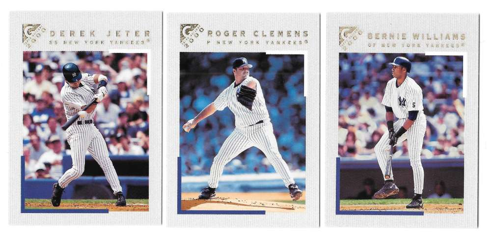 2000 Topps Gallery (Base 1-100) NEW YORK YANKEES Team Set