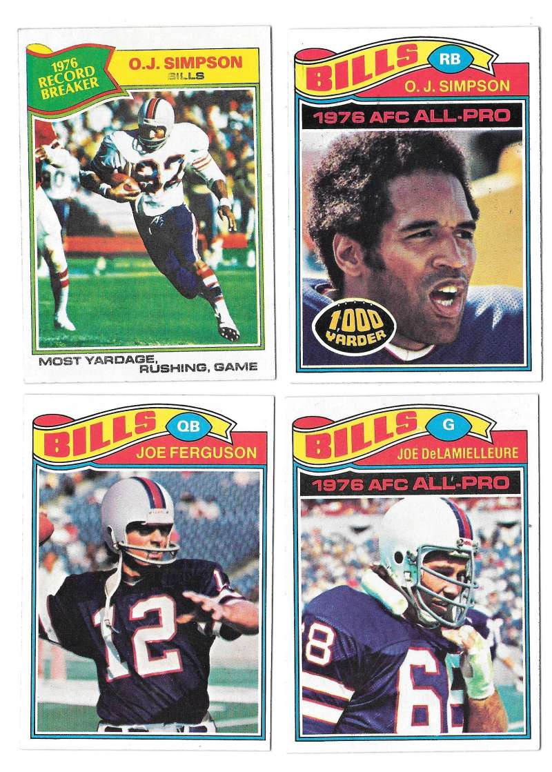1977 Topps Football (B) Team Set - BUFFALO BILLS