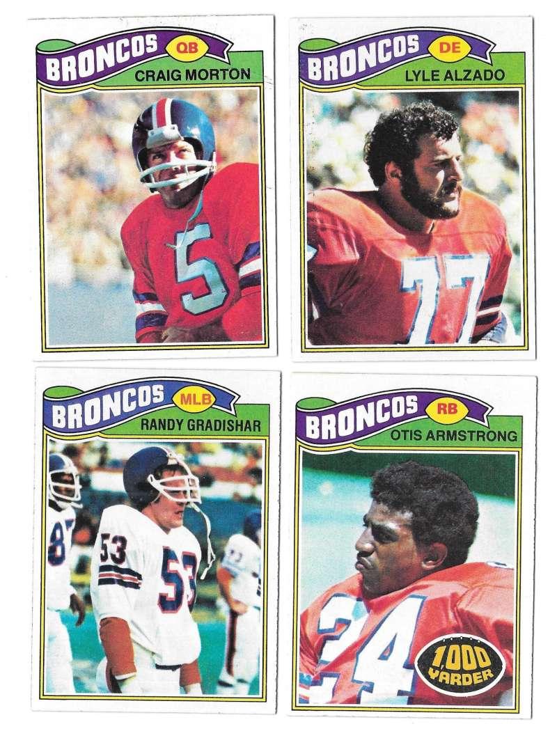 1977 Topps Football (B) Team Set - DENVER BRONCOS