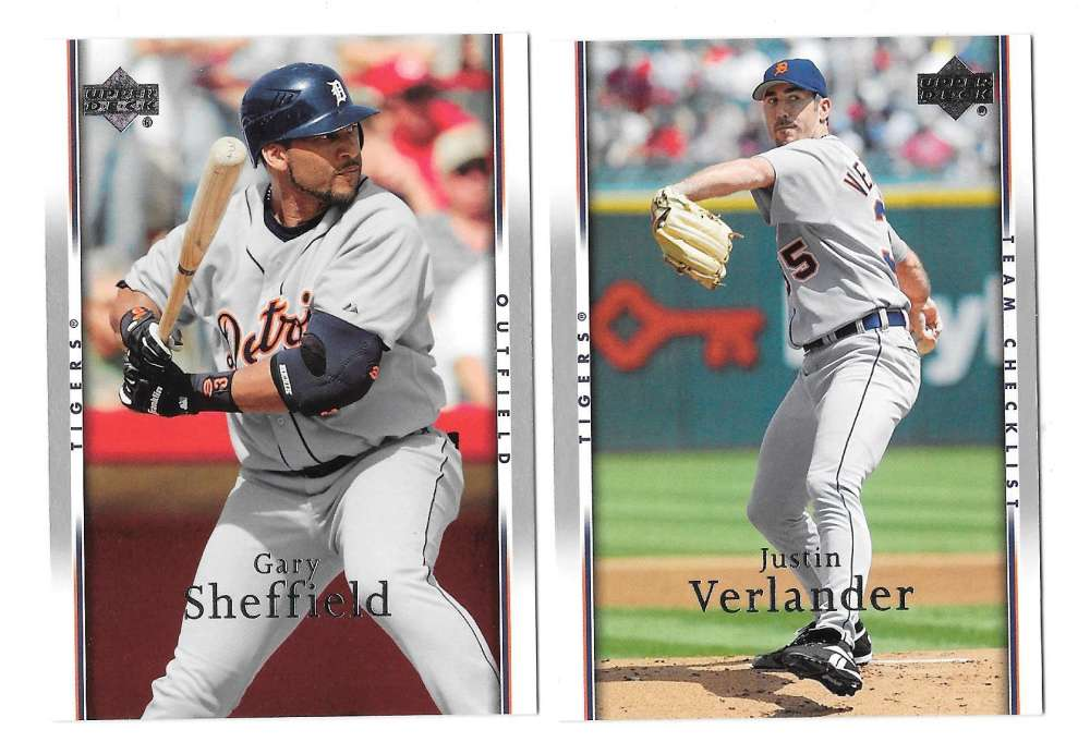 2007 Upper Deck - DETROIT TIGERS Team Set