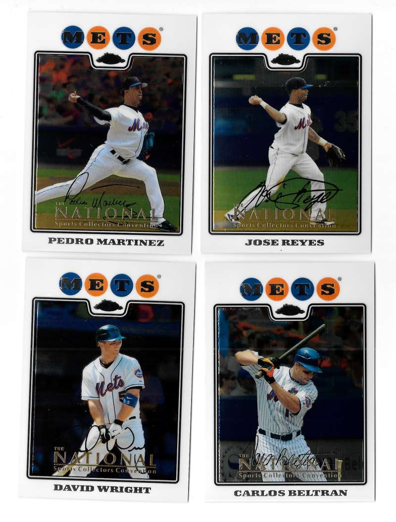 2008 Topps Chrome The National Convention - NEW YORK METS Team Set
