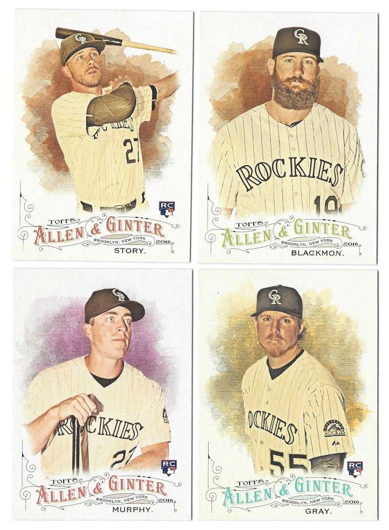 2016 Topps Allen and Ginter - COLORADO ROCKIES Team Set