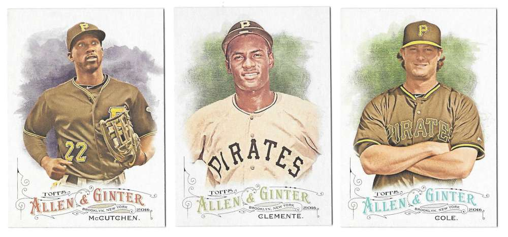 2016 Topps Allen and Ginter - PITTSBURGH PIRATES Team Set