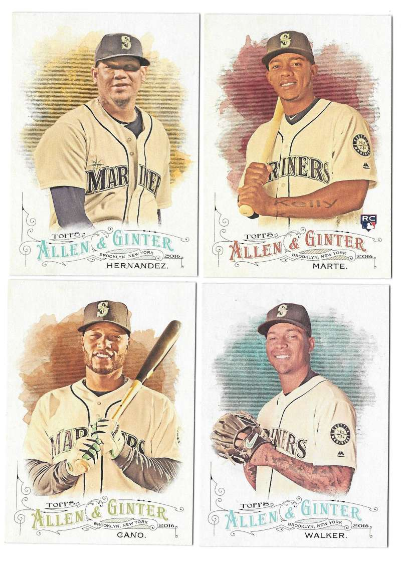 2016 Topps Allen and Ginter - SEATTLE MARINERS Team Set