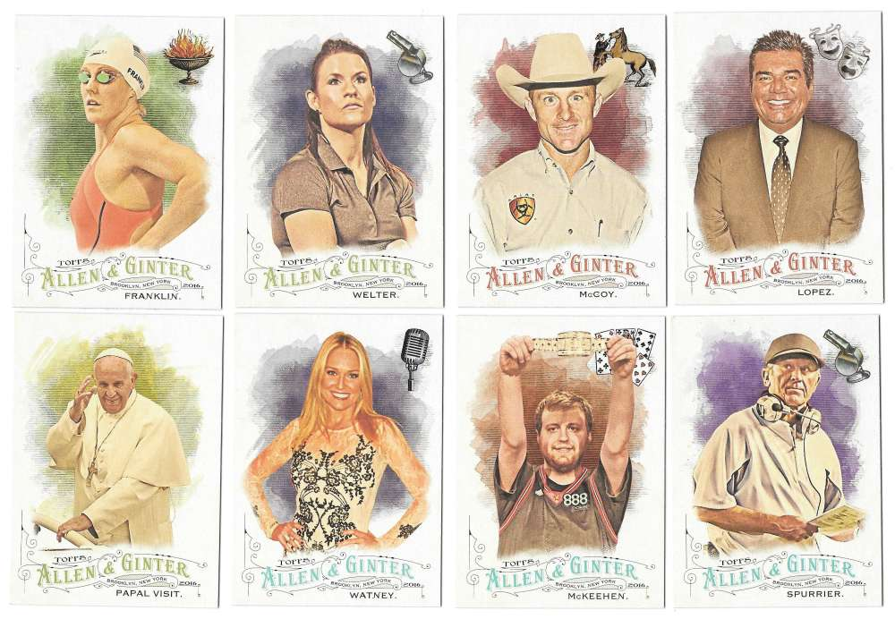 2016 Topps Allen and Ginter - NON Baseball Players 43 Cards