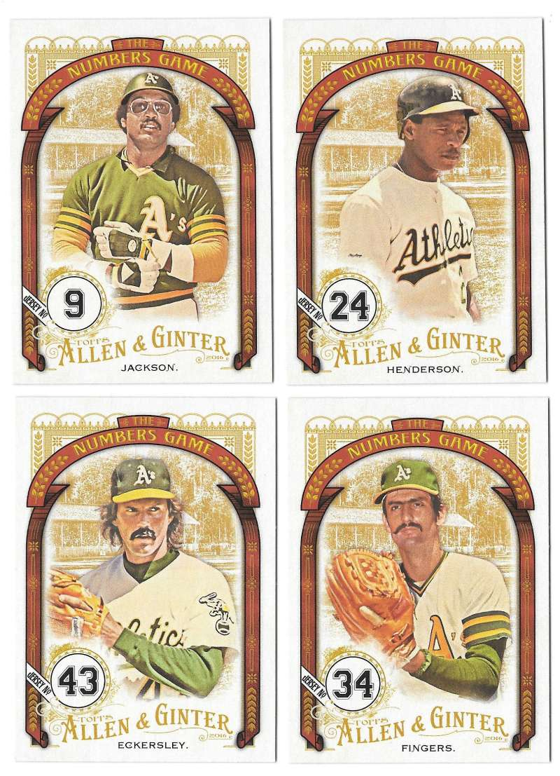 2016 Topps Allen and Ginter The Numbers Game - OAKLAND As Team set