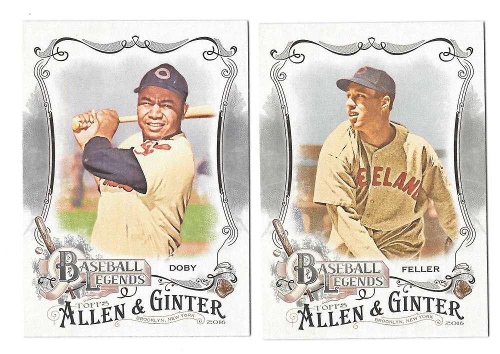2016 Topps Allen and Ginter Baseball Legends - CLEVELAND INDIANS Team Set