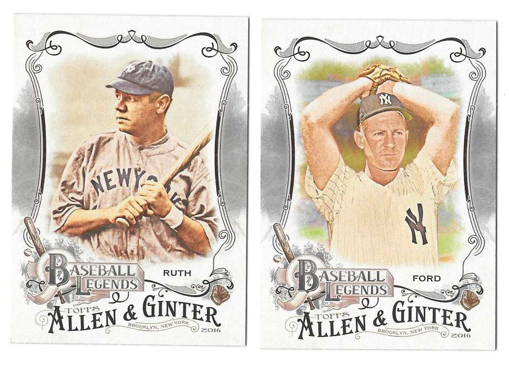 2016 Topps Allen and Ginter Baseball Legends - NEW YORK YANKEES