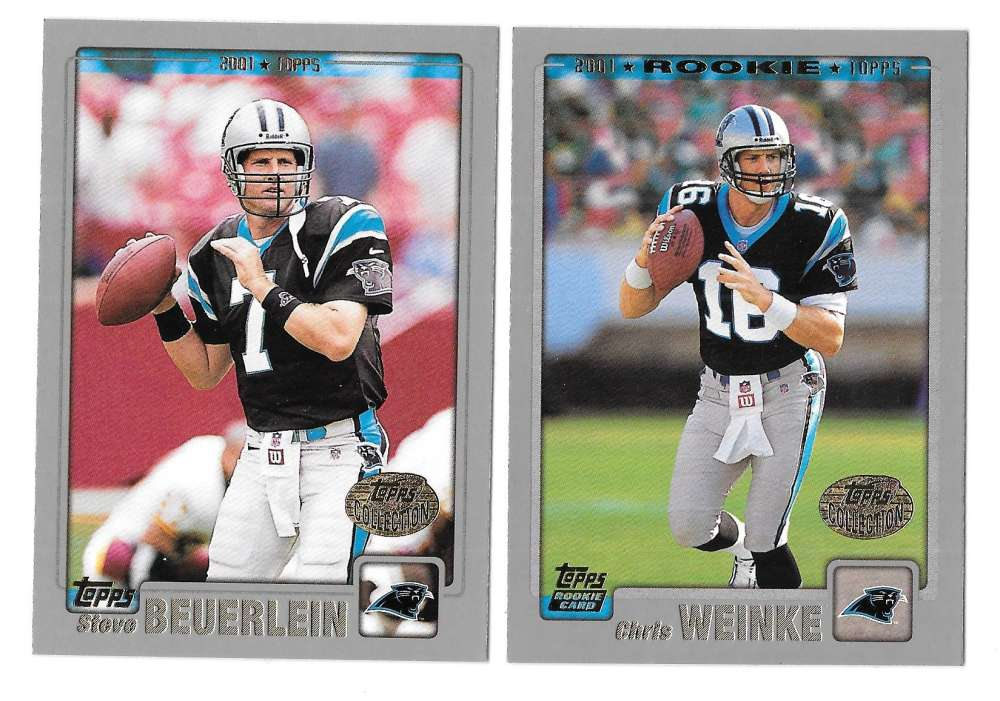 2001 Topps Collections Football Team Set - CAROLINA PANTHERS w/ STEVE SMITH RC