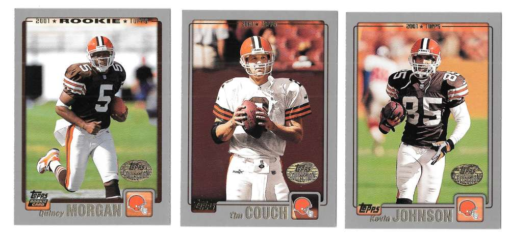 2001 Topps Collections Football Team Set - CLEVELAND BROWNS