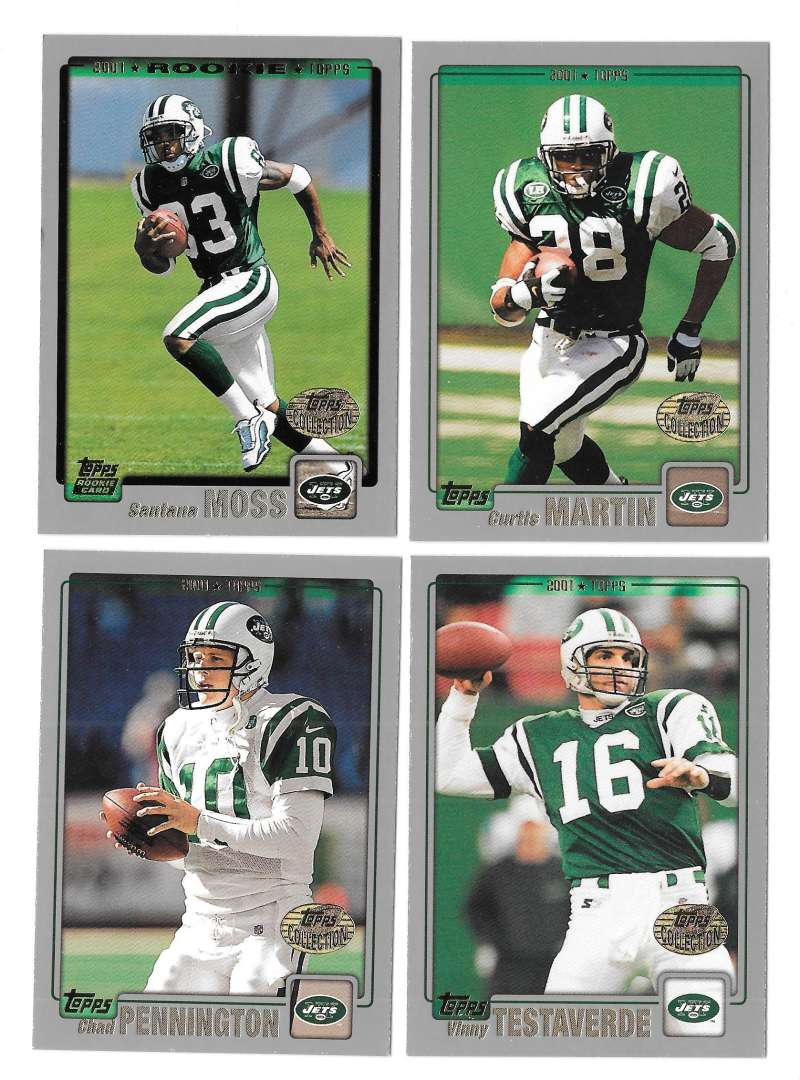 2001 Topps Collections Football Team Set - NEW YORK JETS