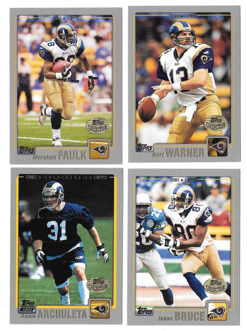 2001 Topps Collections Football Team Set - ST LOUIS RAMS