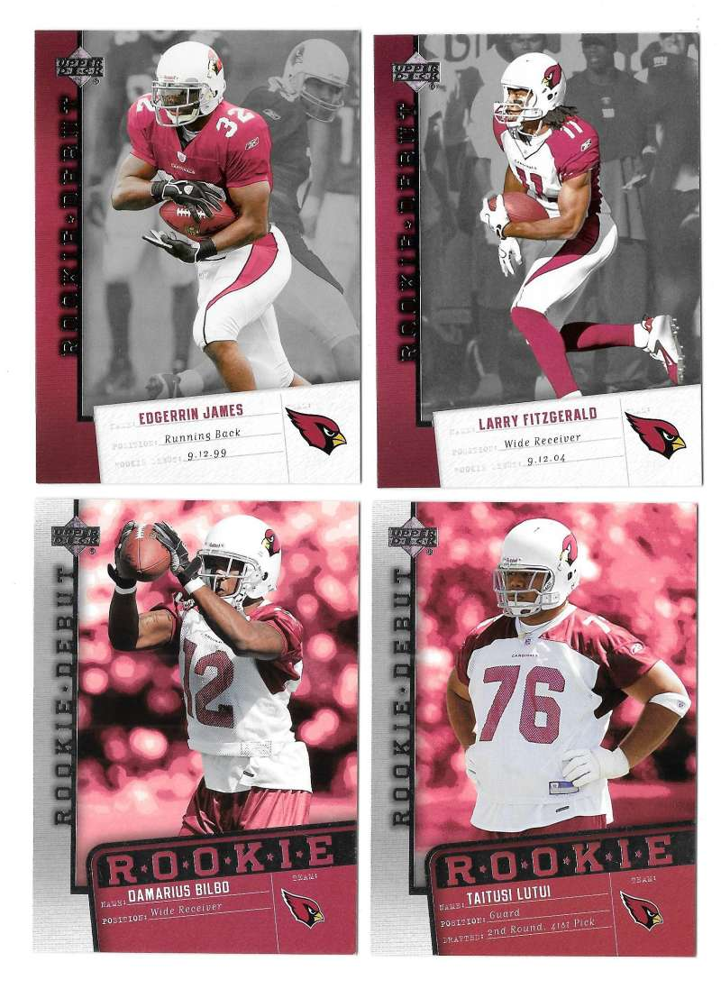 2006 Upper Deck Rookie Debut 1-200 Football Team Set - ARIZONA CARDINALS