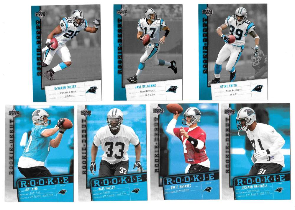 2006 Upper Deck Rookie Debut 1-200 Football Team Set - CAROLINA PANTHERS
