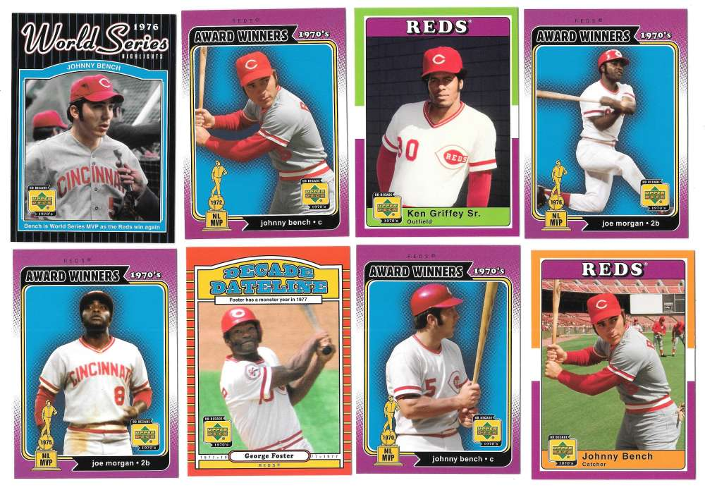 2001 Upper Deck Decade of the 70s - CINCINNATI REDS Team Set