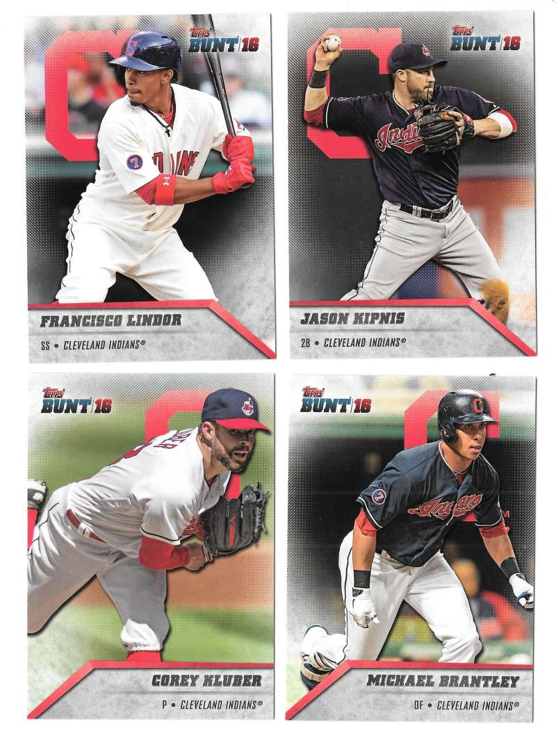 2016 Topps Bunt - CLEVELAND INDIANS Team Set