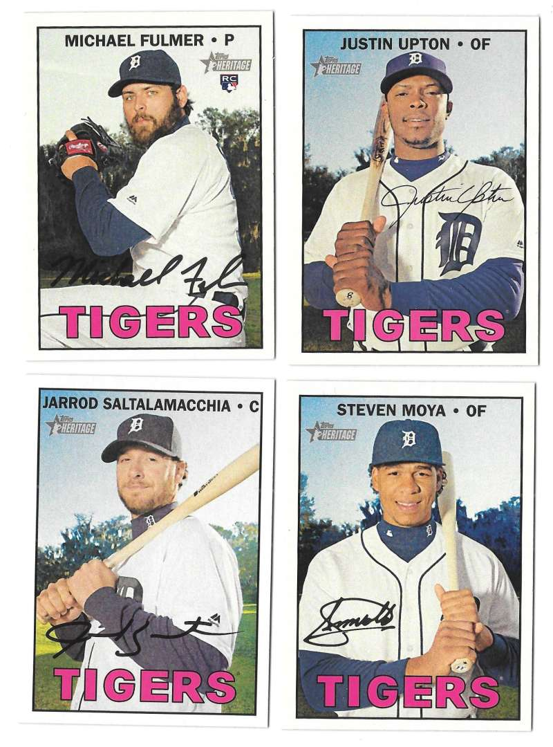 2016 Topps Heritage High (Hi) Numbers - DETROIT TIGERS Team Set