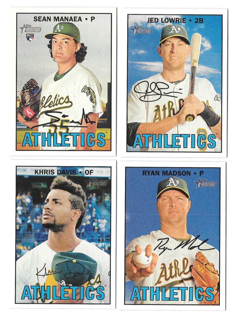 2016 Topps Heritage High (Hi) Numbers - OAKLAND As Team set