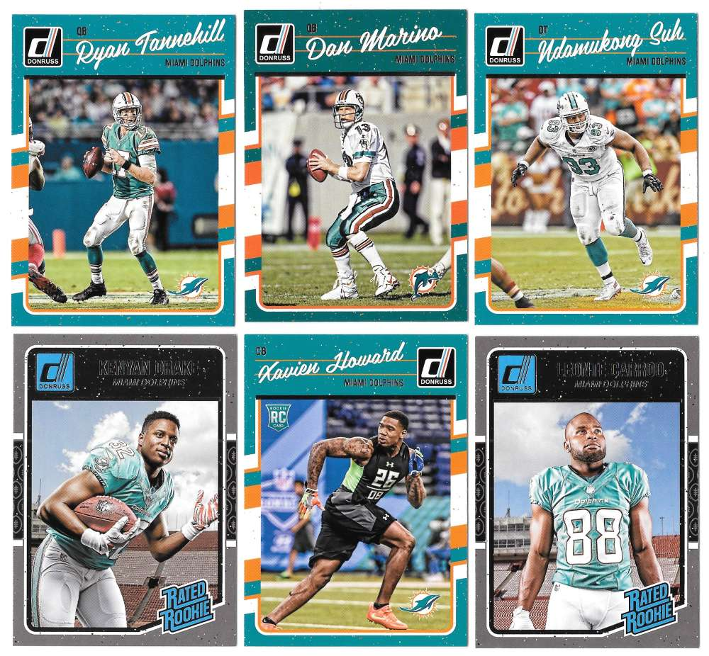 2016 Donruss Football (1-400) Team Set - MIAMI DOLPHINS