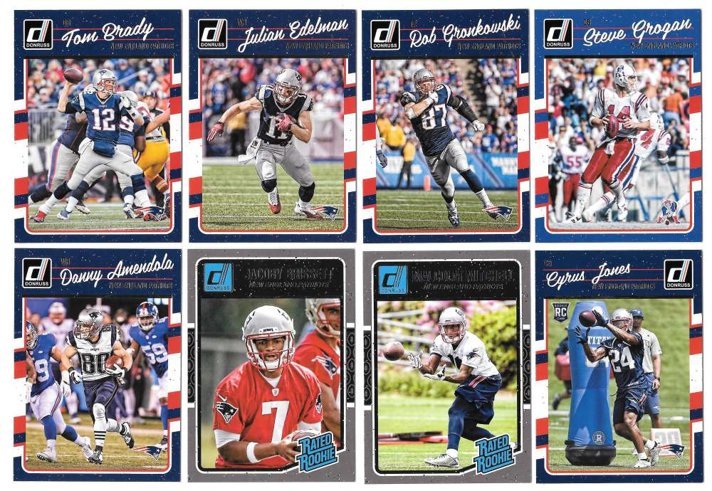 2016 Donruss Football (1-400) Team Set - NEW ENGLAND PATRIOTS