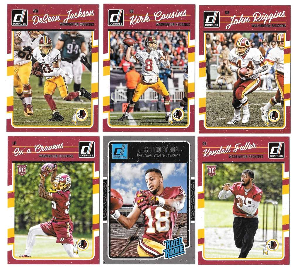 2016 Donruss Football (1-400) Team Set - WASHINGTON REDSKINS