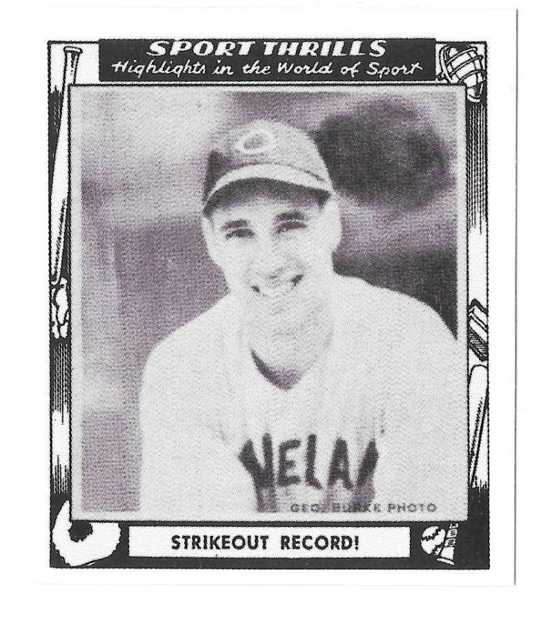 1948 Swell Sports Thrills Reprints - CLEVELAND INDIANS Team Set