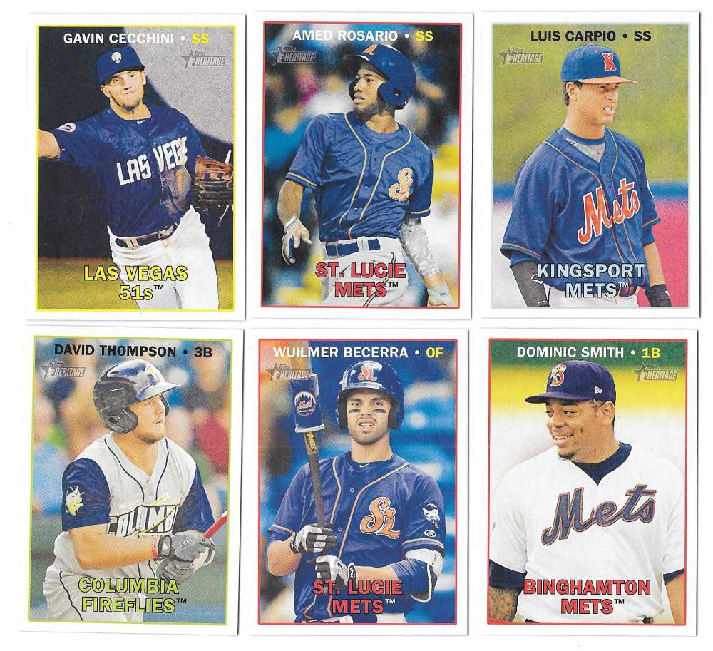 2016 Topps Heritage Minors - NEW YORK METS Team Set