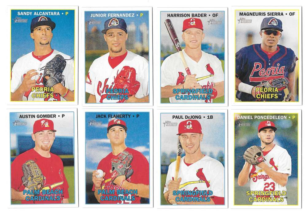 2016 Topps Heritage Minors (1-200) - ST LOUIS CARDINALS Team Set