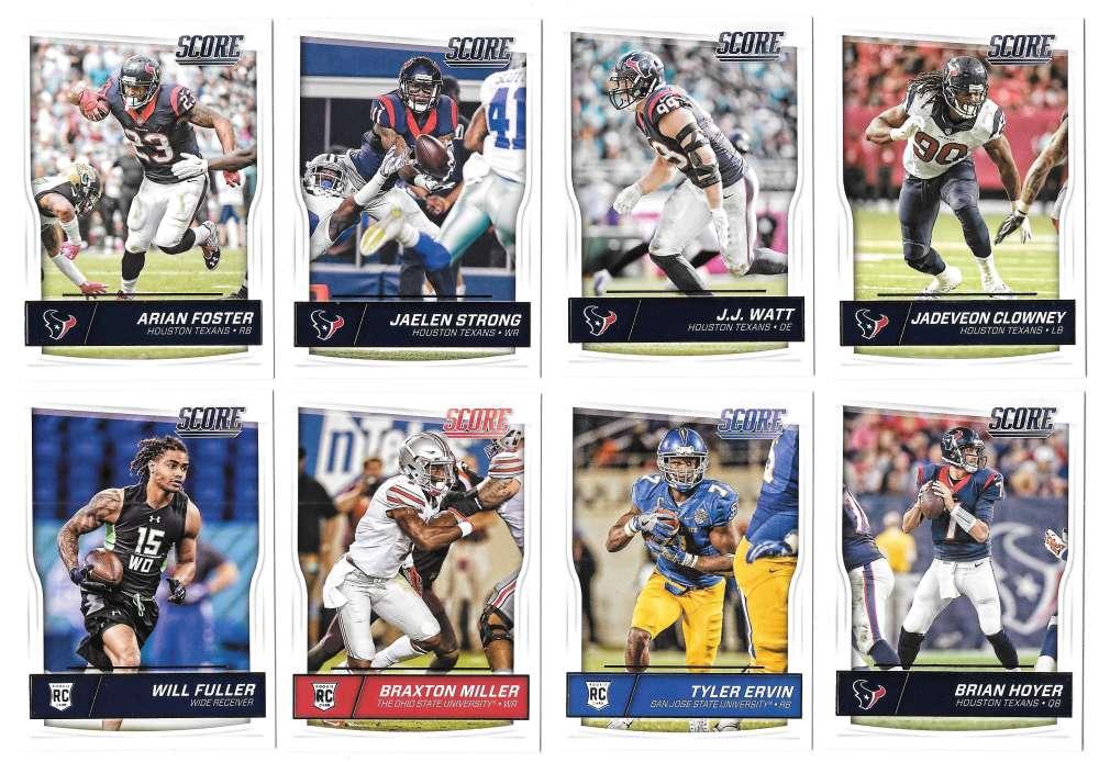 2016 Score (1-440) Football Team Set Houston Texans (12 cards)