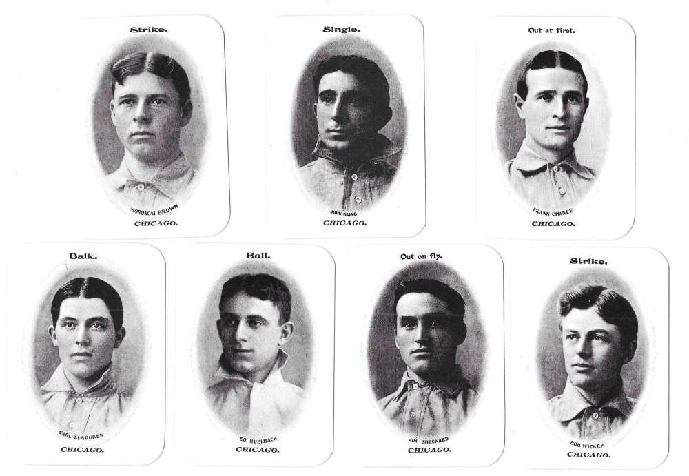 1906 Fan Craze NL WG3 reprints - CHICAGO CUBS Team Set